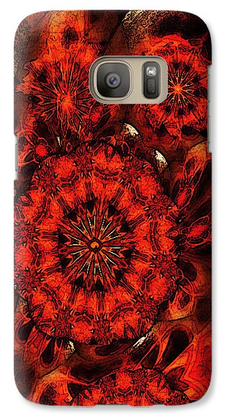 Galaxy Case featuring the mixed media Quiet Intensity by Ray Tapajna