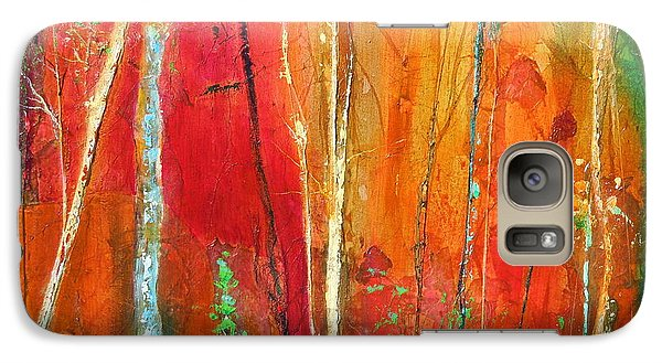Galaxy Case featuring the painting Quinacridone Hollow  by Dan Whittemore