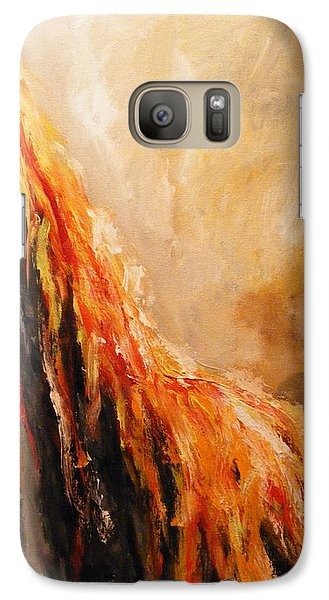 Galaxy Case featuring the painting Quite Eruption by Karen  Ferrand Carroll