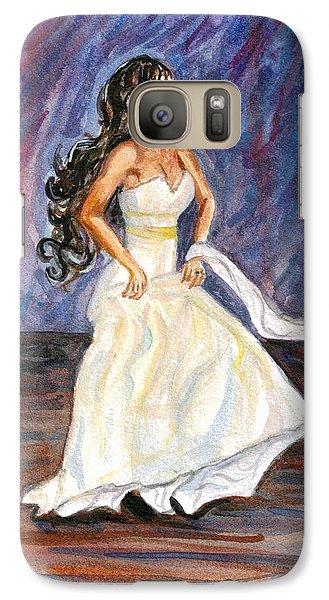 Galaxy Case featuring the painting Rachel by Clara Sue Beym