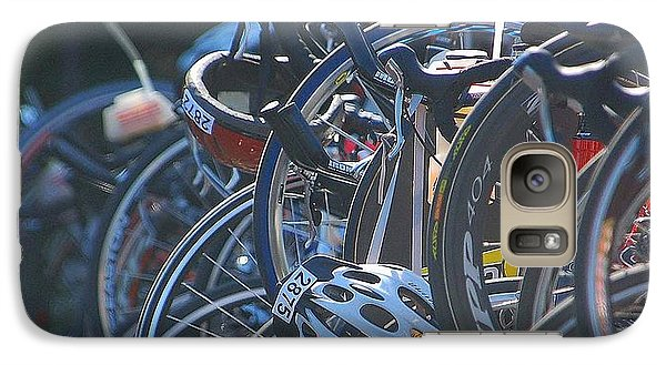 Galaxy Case featuring the photograph Racing Bikes by Sarah McKoy