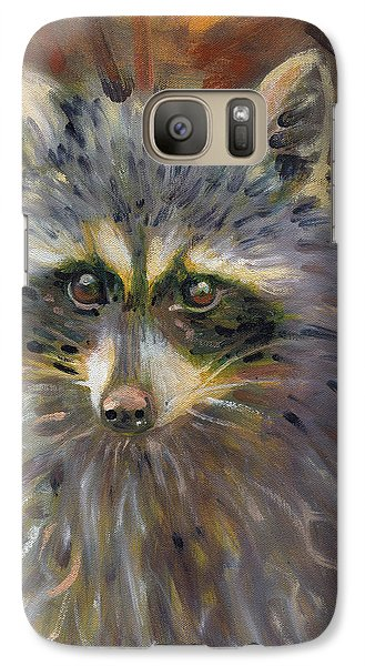 Galaxy Case featuring the painting Racoon by Donald Maier