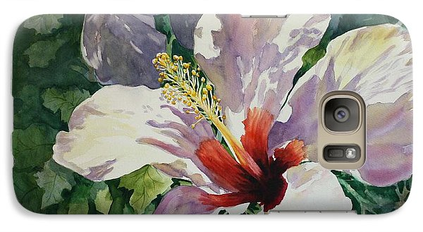Galaxy Case featuring the painting Radiant Light - Hibiscus by Roxanne Tobaison