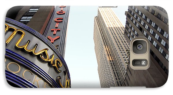 Galaxy Case featuring the photograph Radio City Music Hall by Michael Dorn