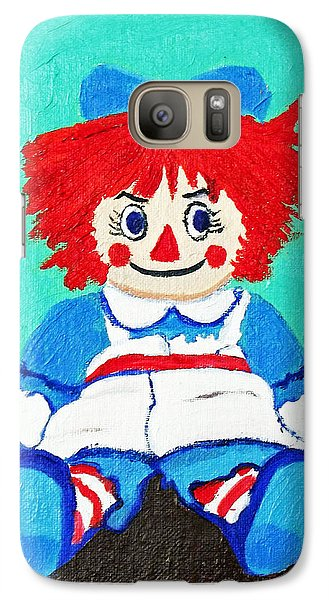 Galaxy Case featuring the painting Raggedy Ann With An Attitude by Margaret Harmon