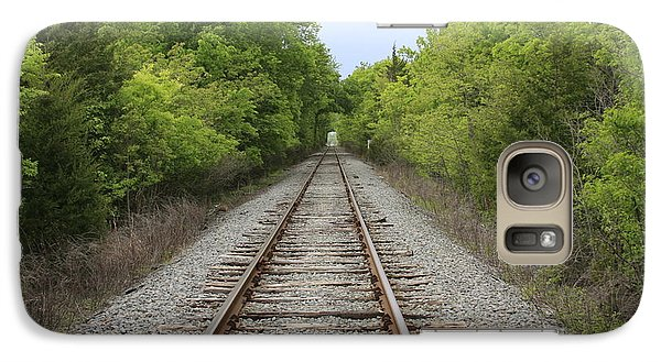 Galaxy Case featuring the photograph Railroad Tracks by Jerry Bunger