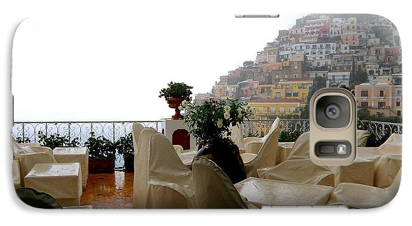Galaxy Case featuring the photograph Rain In Positano  2 by Tanya  Searcy
