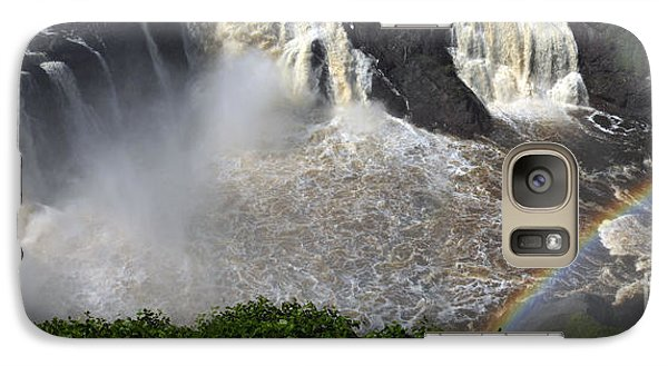 Galaxy Case featuring the photograph Rainbow And The Waterfall by Vilas Malankar
