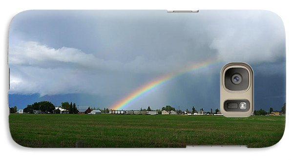 Galaxy Case featuring the photograph Rainbow Before The Storm by Nina Prommer
