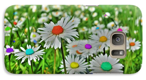 Galaxy Case featuring the photograph Rainbow Daisy's by Tyra  OBryant