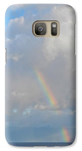 Galaxy Case featuring the photograph Rainbow From Molokai by Kirsten Giving