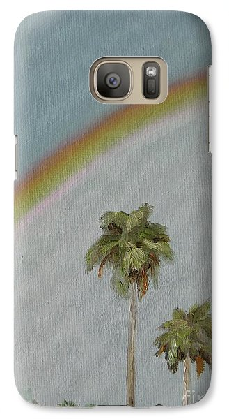 Galaxy Case featuring the painting Rainbow by Jindra Noewi