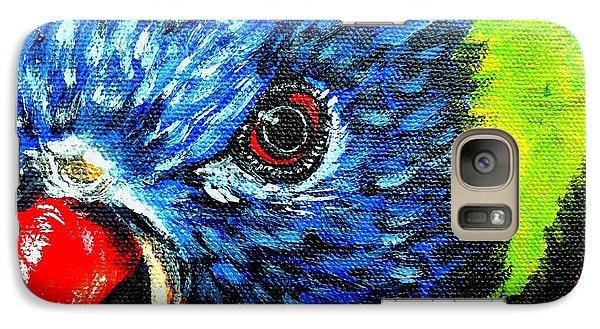 Galaxy Case featuring the painting Rainbow Lorikeet Look by Julie Brugh Riffey