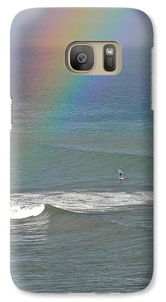 Galaxy Case featuring the photograph Rainbow Mists And Surfing Too by Kirsten Giving