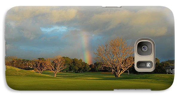 Galaxy Case featuring the photograph Rainbow Over Princeville by Lynn Bauer