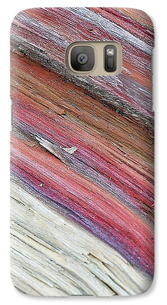 Galaxy Case featuring the photograph Rainbow Wood by Lisa Phillips