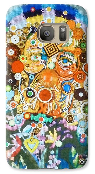 Galaxy Case featuring the mixed media Rainbow Man by Douglas Fromm