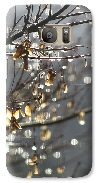 Galaxy Case featuring the photograph Raindrops And Leaves by Katie Wing Vigil