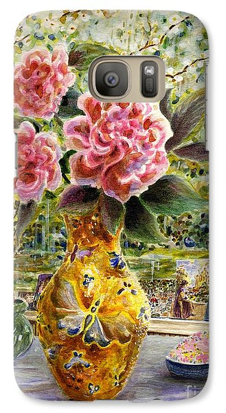 Galaxy Case featuring the painting Rainy Afternoon Joy by Dee Davis