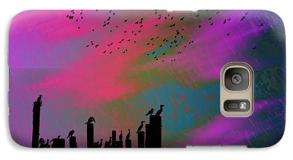 Galaxy Case featuring the photograph Rainy Rainy Night by Barbara Middleton
