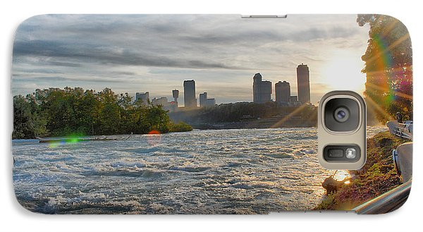 Galaxy Case featuring the photograph Rapids Sunset by Michael Frank Jr