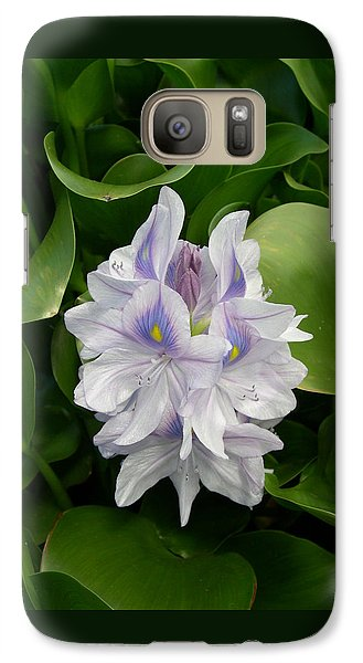 Galaxy Case featuring the digital art Rare Hawain Water Lilly by Claude McCoy