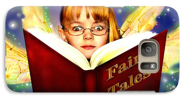Galaxy Case featuring the photograph Read More Fairy Tales by Nada Meeks