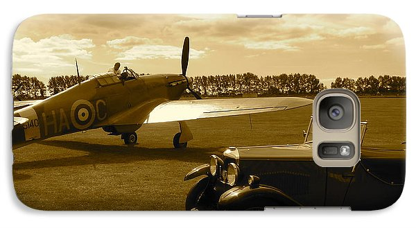 Galaxy Case featuring the photograph Ready To Scramble - Spitfire by John Colley