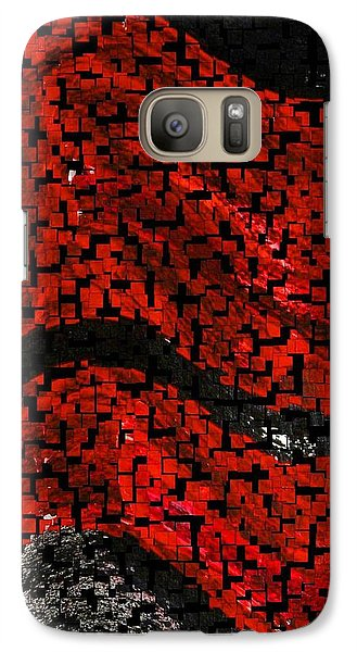 Galaxy Case featuring the painting Red And Black Abstract by Carolyn Repka