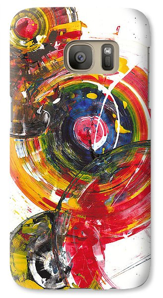 Galaxy Case featuring the painting Red And Blue's Gold  837.120811 by Kris Haas