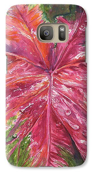 Galaxy Case featuring the painting Red And Wet by AnnaJo Vahle
