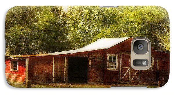 Galaxy Case featuring the photograph Red Barn by Joan Bertucci