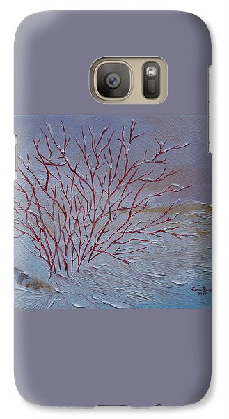 Galaxy Case featuring the painting Red Branches by Judith Rhue