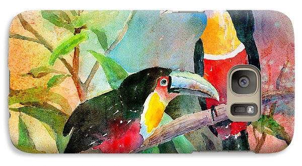 Red-breasted Toucans Galaxy Case by Arline Wagner