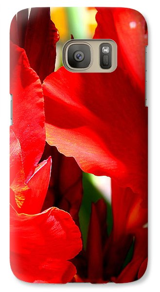Galaxy Case featuring the photograph Red Canna Portrait by M Diane Bonaparte