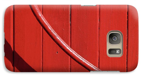 Galaxy Case featuring the photograph Red Curve by Newel Hunter