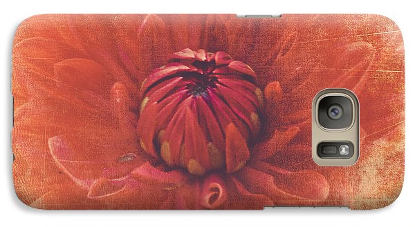Galaxy Case featuring the photograph Red Dahlia by Alana Ranney