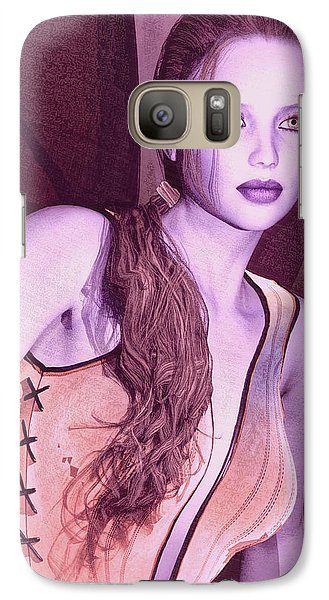 Galaxy Case featuring the painting Red Fae by Maynard Ellis