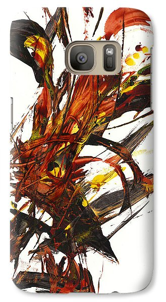 Galaxy Case featuring the painting Red Flame II 65.121410 by Kris Haas