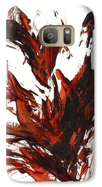 Galaxy Case featuring the painting Red Flame IIi 64.121410 by Kris Haas