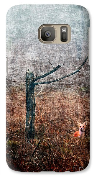 Galaxy Case featuring the photograph Red Fox Under Tree by Dan Friend