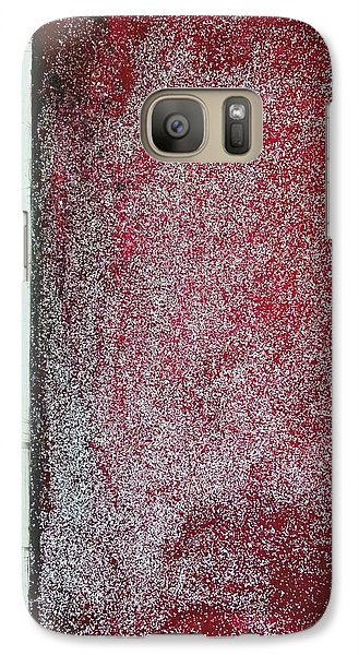 Galaxy Case featuring the painting Red Galaxy - Abstract by Ismeta Gruenwald