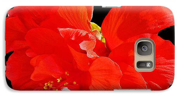 Galaxy Case featuring the photograph Red Hibiscus by Cindy Manero