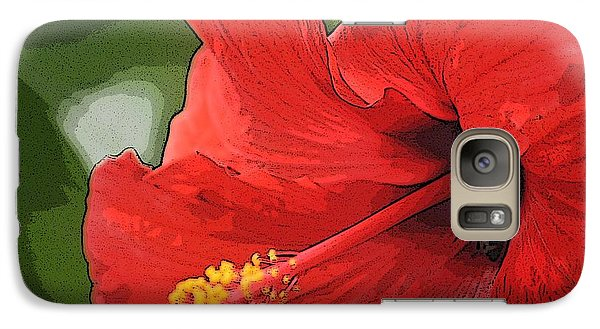 Galaxy Case featuring the photograph Red Hibiscus by Donna  Smith