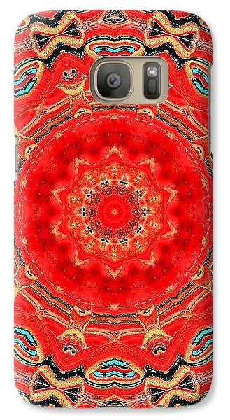 Galaxy Case featuring the painting Red Kalideoscope by Carolyn Repka