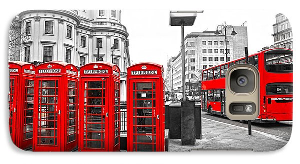 Galaxy Case featuring the photograph Red London by Luciano Mortula