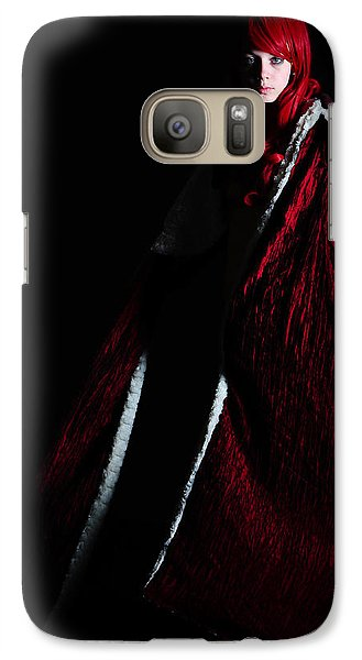 Galaxy Case featuring the photograph Red Riding Hood by Jim Boardman