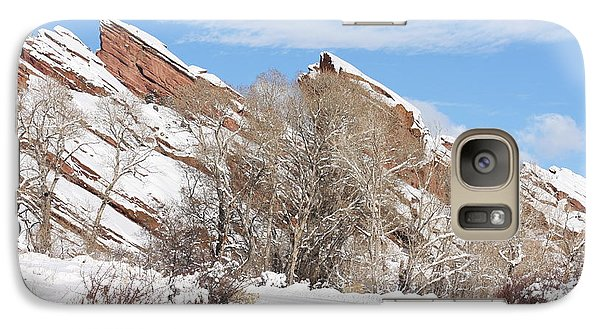 Galaxy Case featuring the photograph Red Rocks by Angelique Olin