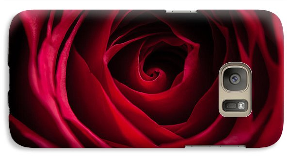 Galaxy Case featuring the photograph Red Rose by Matt Malloy