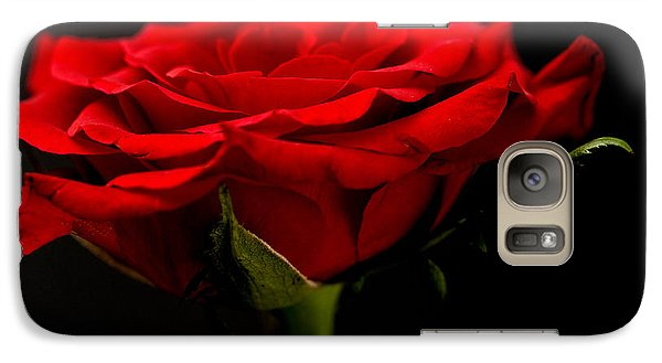 Galaxy Case featuring the photograph Red Rose by Steve Purnell